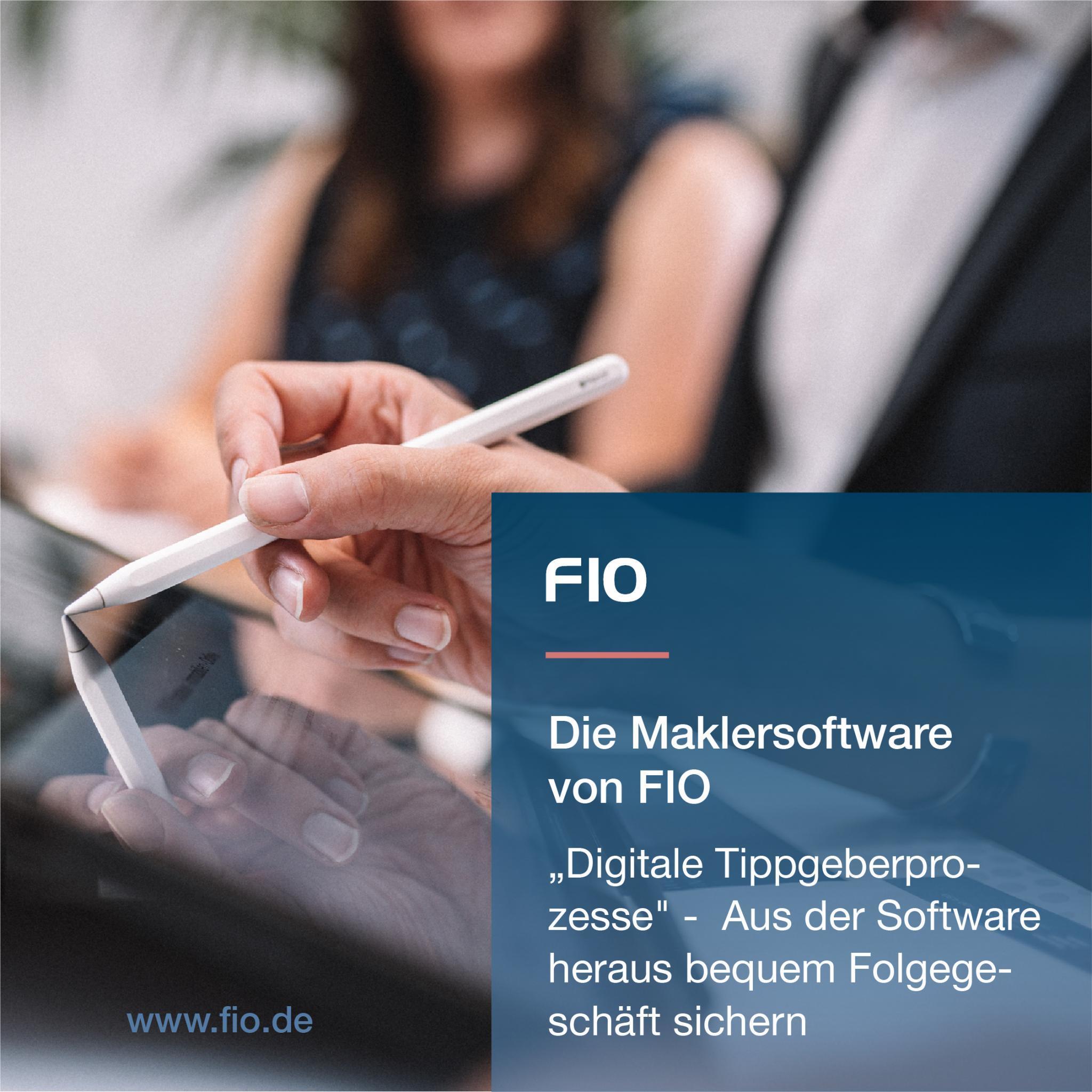 Bild 1 - FIO die webbasierte Maklersoftware