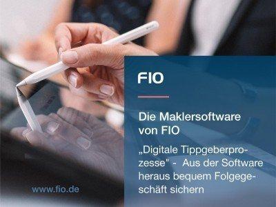 Bild: Die webbasierte Maklersoftware von FIO